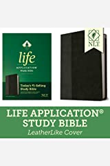 NLT Life Application Study Bible, Third Edition (LeatherLike, Black/Onyx) Tyndale NLT Bible with Updated Notes and Features, Full Text New Living Translation Imitation Leather