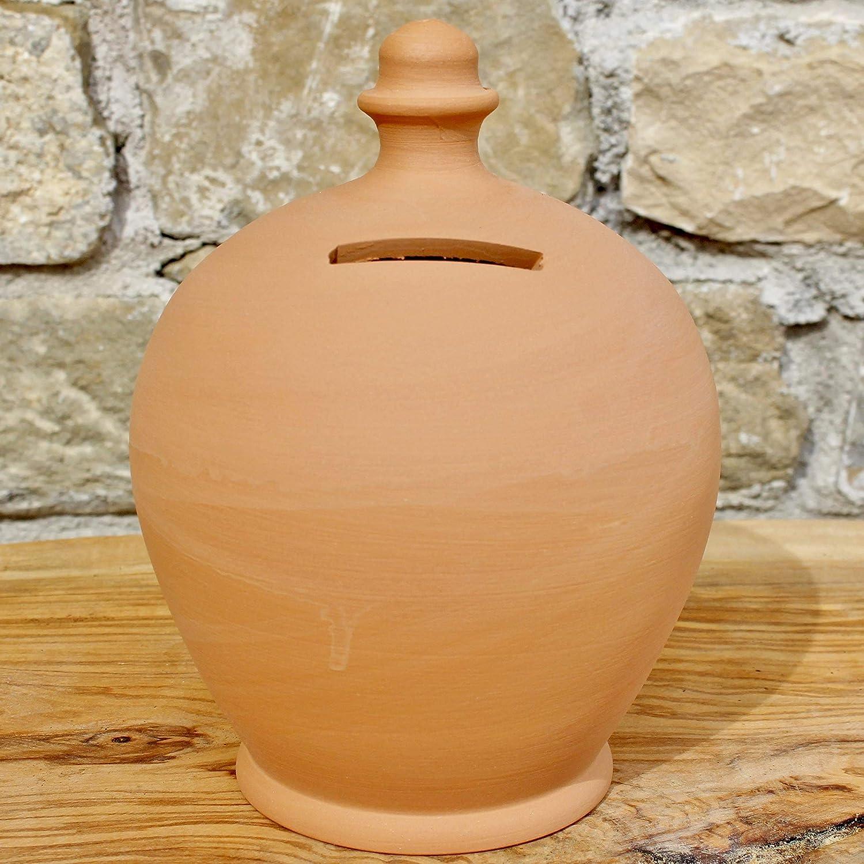 Salvadanaio in Terracotta varie misure 100% made in Italy (vicino Assisi) da rompere (senza foro inferiore) lavorato a mano al tornio