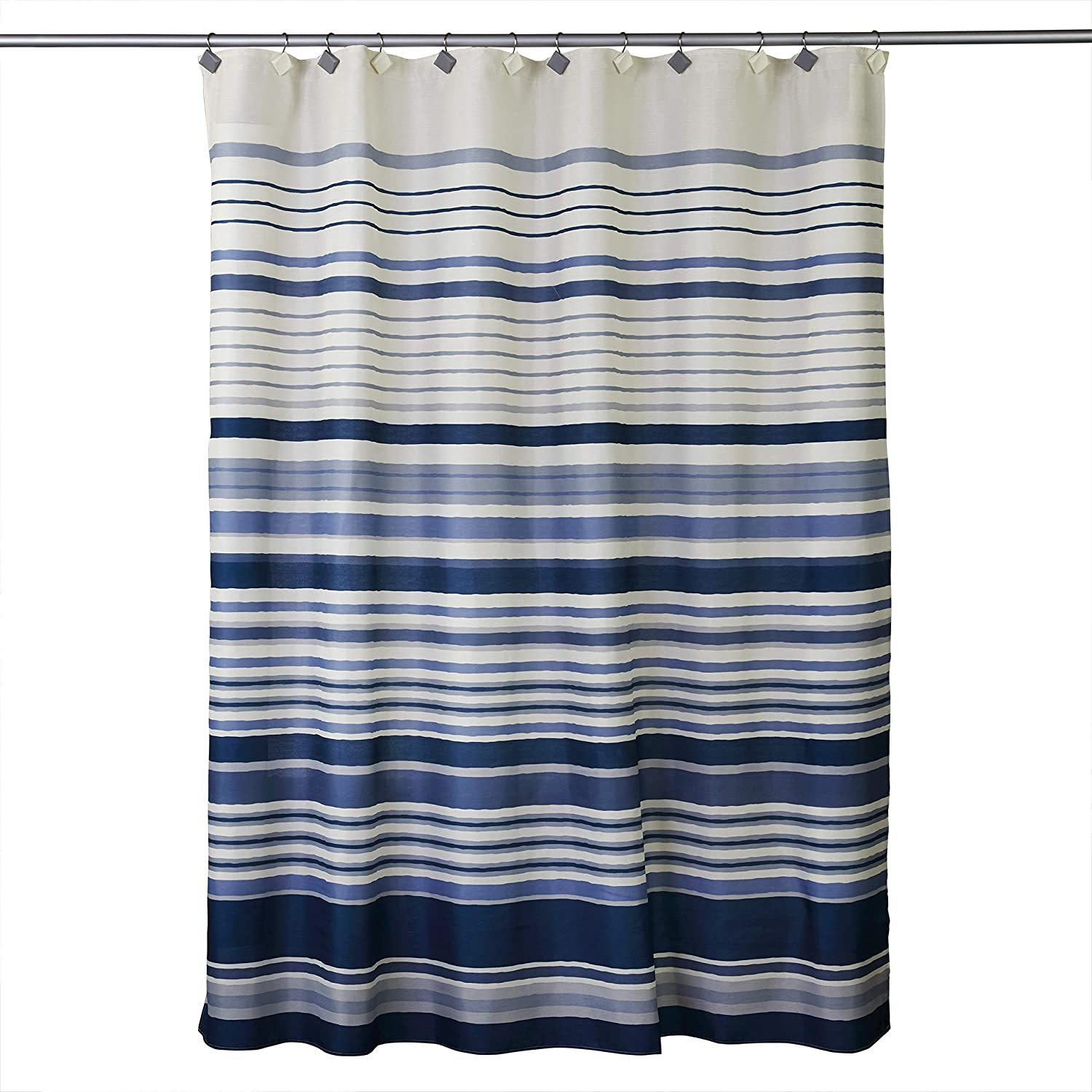 Skl Home By Saturday Knight Ltd Cubes Stripe Fabric Shower Curtain Blue Home Kitchen