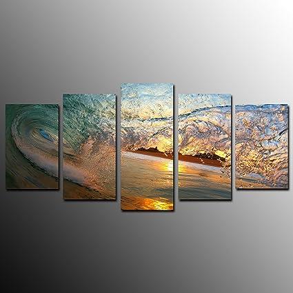 amazon com kuyiart 5 panels canvas print art prints on canvas