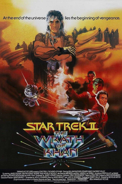Da Bang Star Trek II The Wrath of Khan Movie Poster 1982 William Shatner Sci-Fi 24x36inch