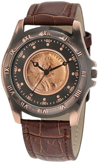 Reloj con moneda para coleccionistas de August Steiner para hombre, moneda antigua, color trigo