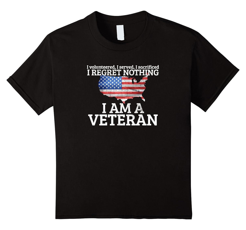 Womens Veteran T Shirt Regret Nothing-Tovacu