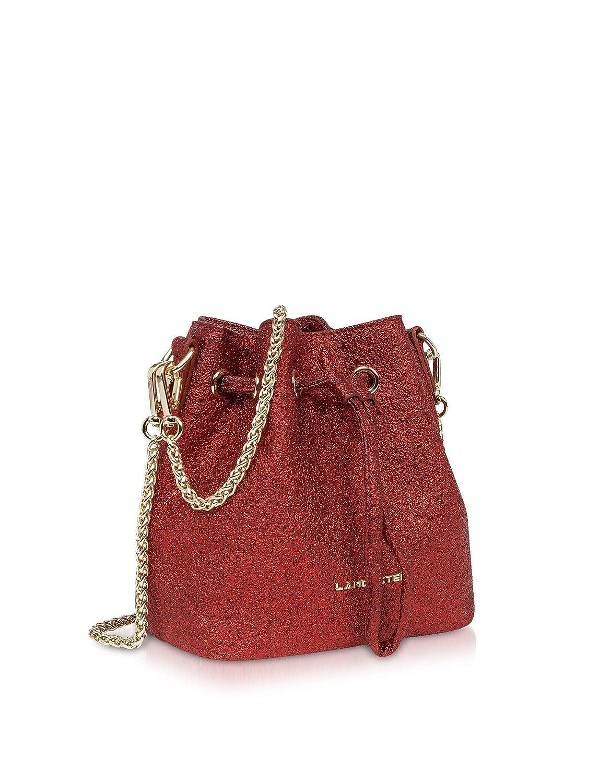 Lancaster Paris Womens 51918ROUGE Red Canvas Shoulder Bag