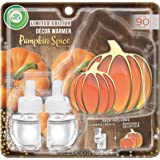 Air Wick Plug in Scented Oil Starter Kit with Pumpkin Free Decorative Warmer + 2 Refills, Pumpkin Spice, Fall Scent…