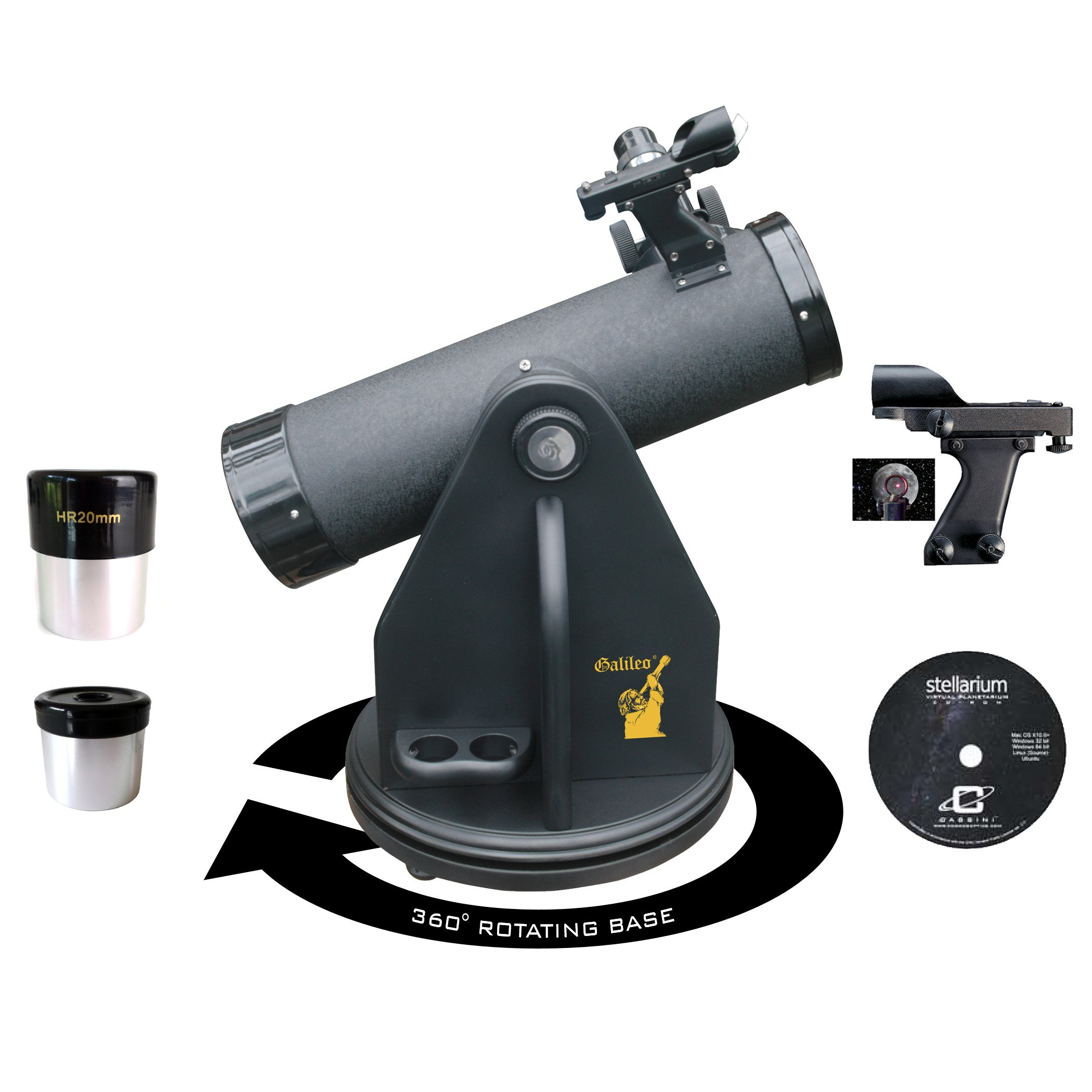 Galileo G-80DB 500mm x 80mm Dobsonian Table Top Telescope by Galileo