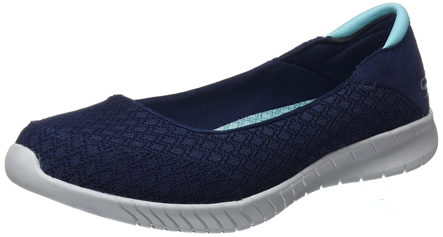 Skechers Wave Lite Don't Mention It Womens Slip On Skimmer Sneakers B076THN6KN 6.5 B(M) US|Navy/Aqua