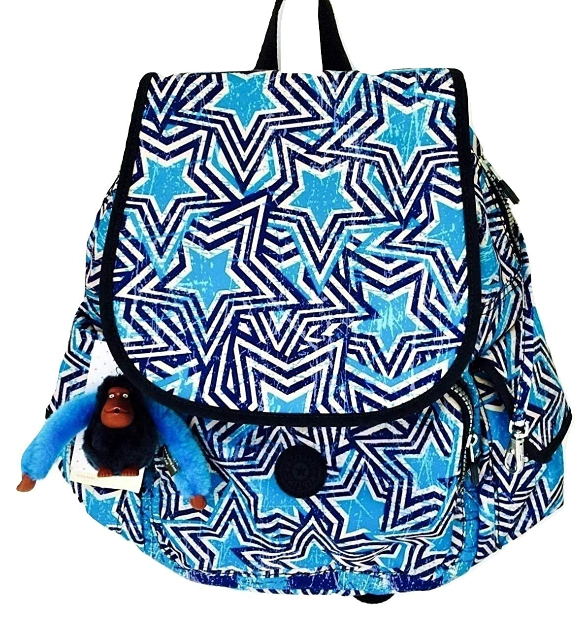 Kipling Ravier Backpack Blue America Pop Print Backpack
