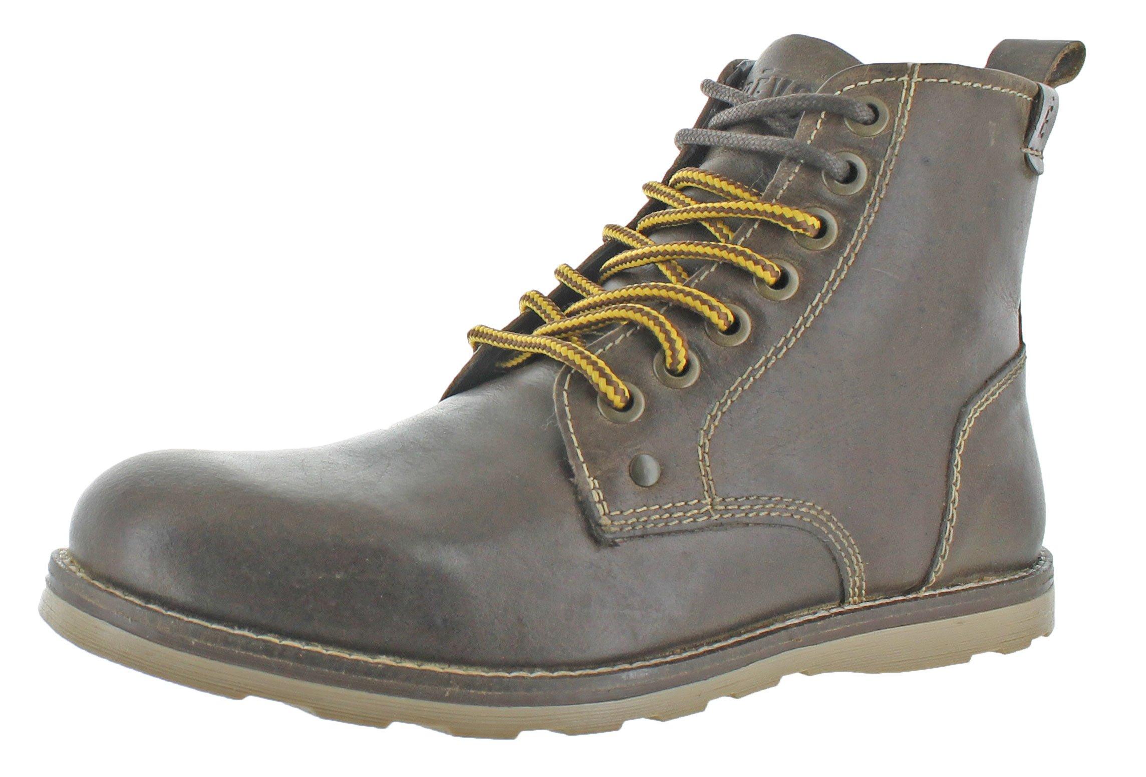 Crevo Men's Ranger Winter Boot, Dark Brown Leather, 10.5 M US