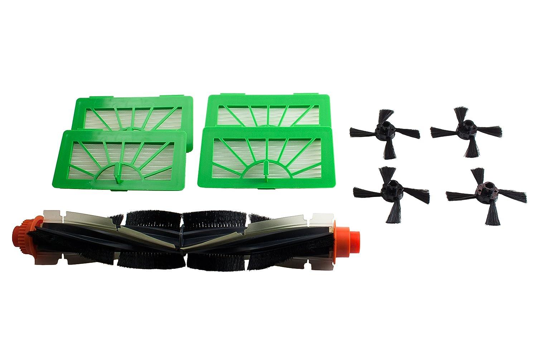 1 espiral cepillo, 4 High Performance filtros y 4 cepillos laterales para Vorwerk Kobold VR 100 de Hannets: Amazon.es: Electrónica