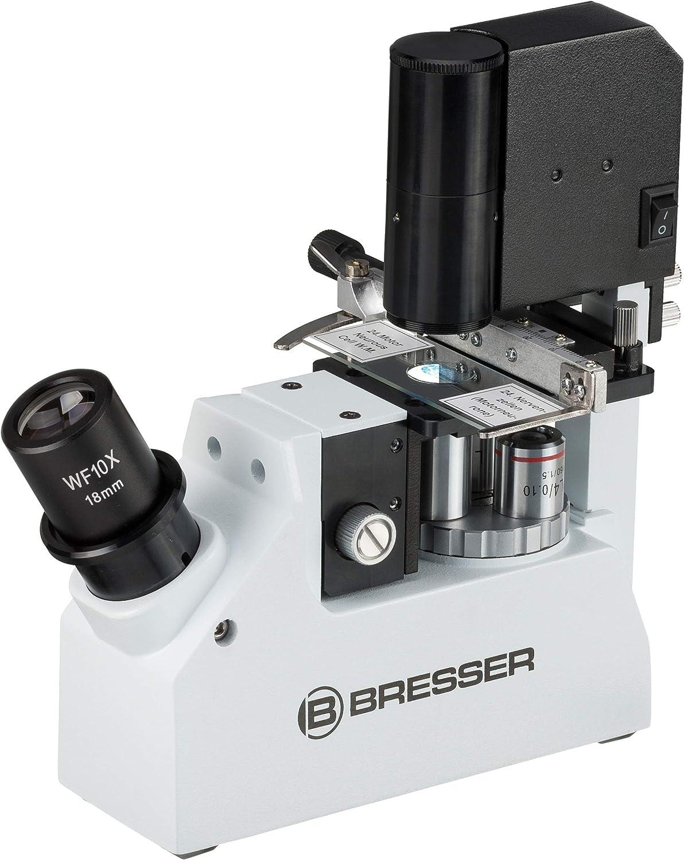 Bresser Science XPD-101 - Microscopio (40-400x, Compacto, inverso, Profesional, con Contraste de Fase para investigación biológica o médica)