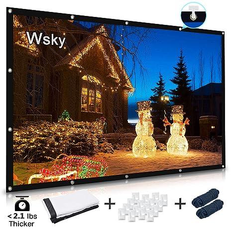 Amazon.com: Wsky Proyector de pantalla, pantalla de ...