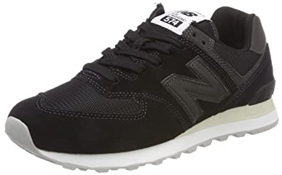 outlet store cd63c cd703 New Balance Mens Iconic 574 Sneaker, Black, ...