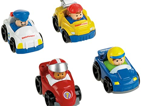 amazon com fisher price little people wheelies all about racing