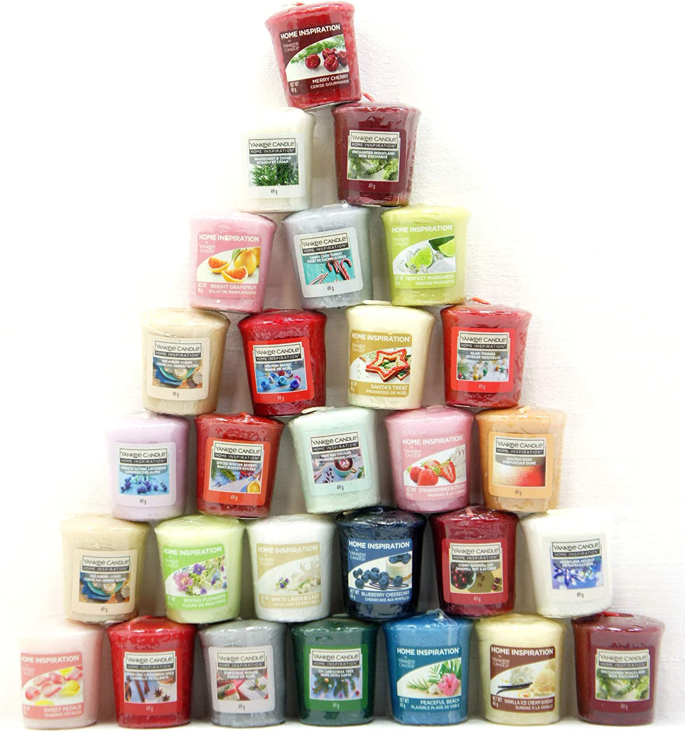 Official Yankee Candle Classic Selection /& Home Inspiration 20 x Votive Samplers