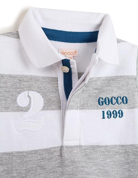 Gocco S76RNCCA301 Polo, Gris (Gris Claro Melange), 9-12 Meses para ...