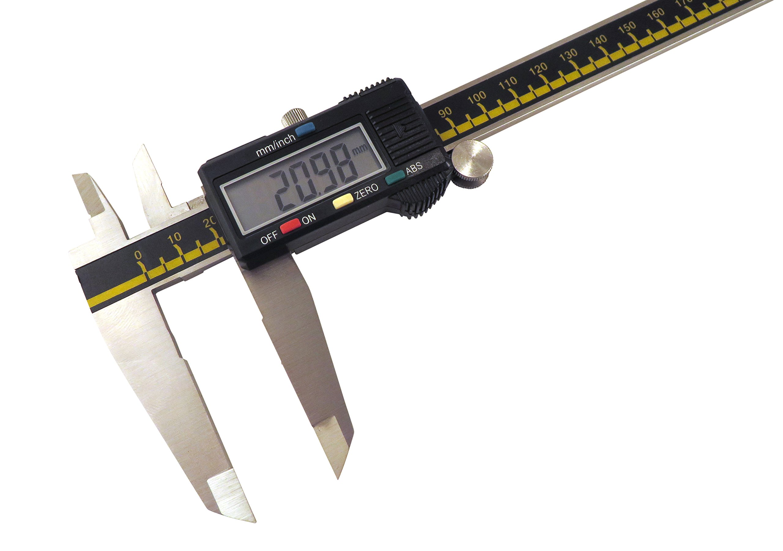 """Absolute Digital Caliper 12"""" / 300 mm Digital Calipers Accurate to 0.0015""""/12"""" Hardened Stainless Steel ODC-12 by Taylor Toolworks (Image #2)"""