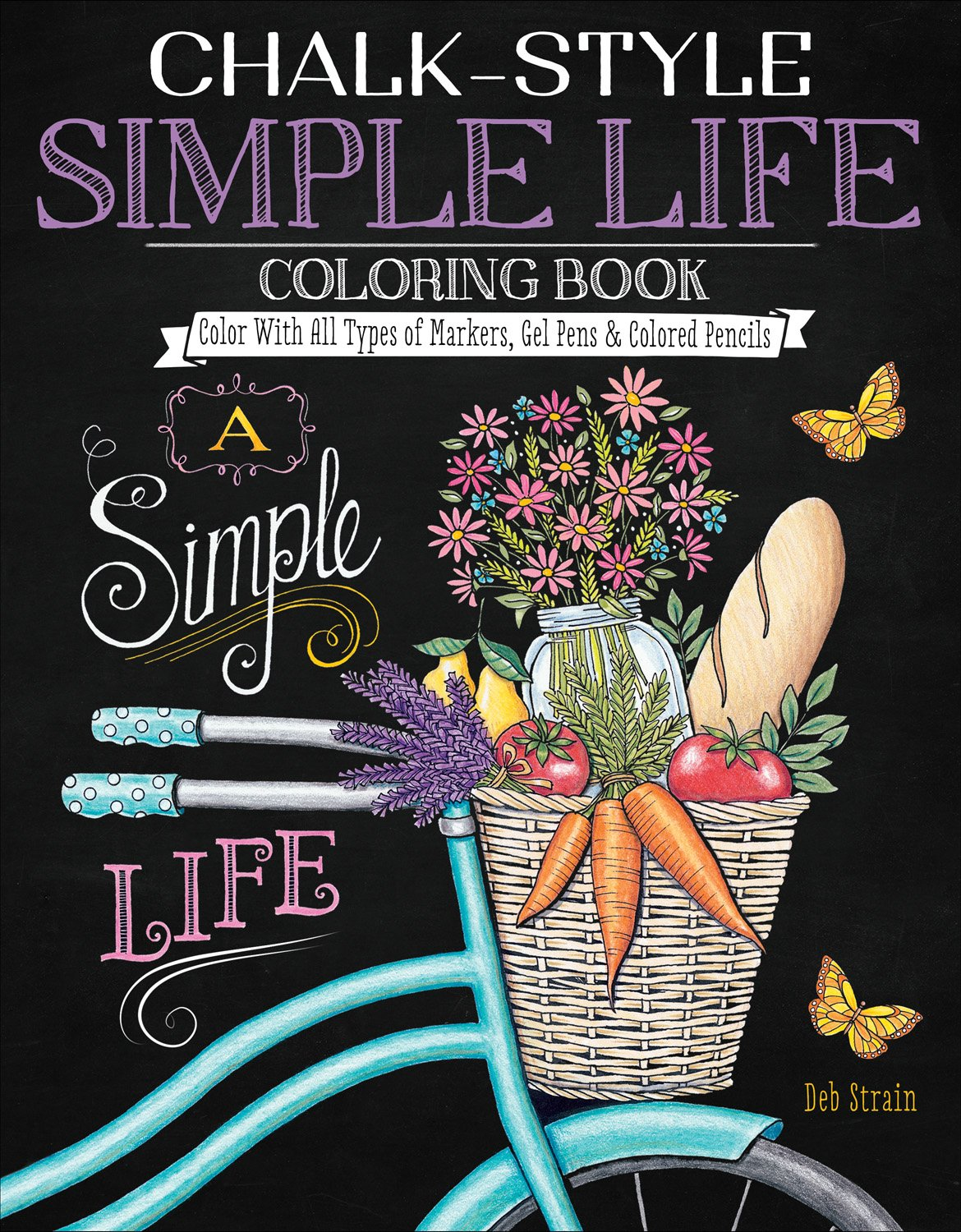 amazon chalk style simple life coloring book color with all types