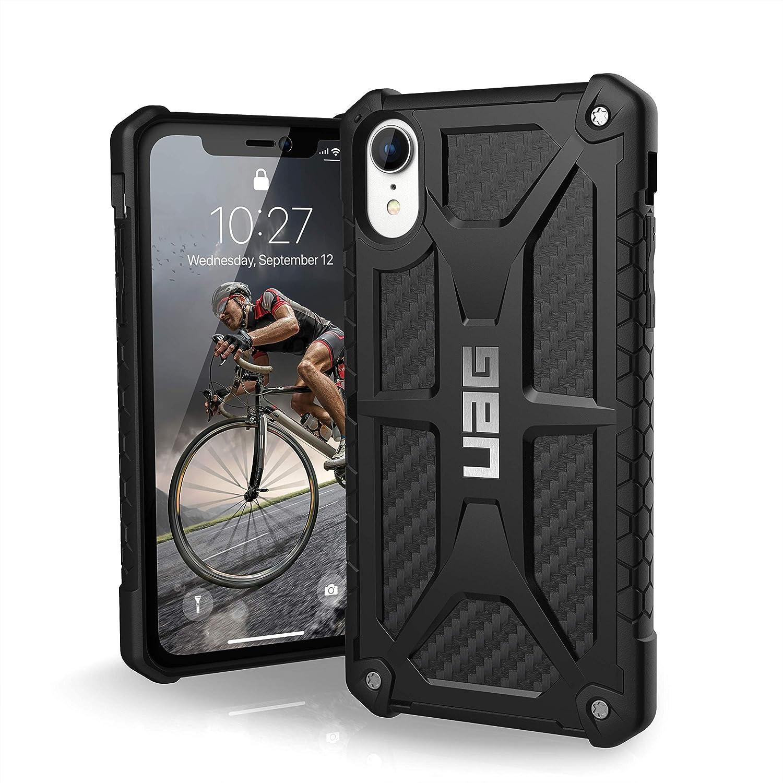Urban Armor Gear Monarch H/ülle f/ür das Apple iPhone Xs X Handyh/ülle nach US-Milit/ärstandard Carbon Qi kompatibel, Sturzfest, Verst/ärkte Ecken, Leder