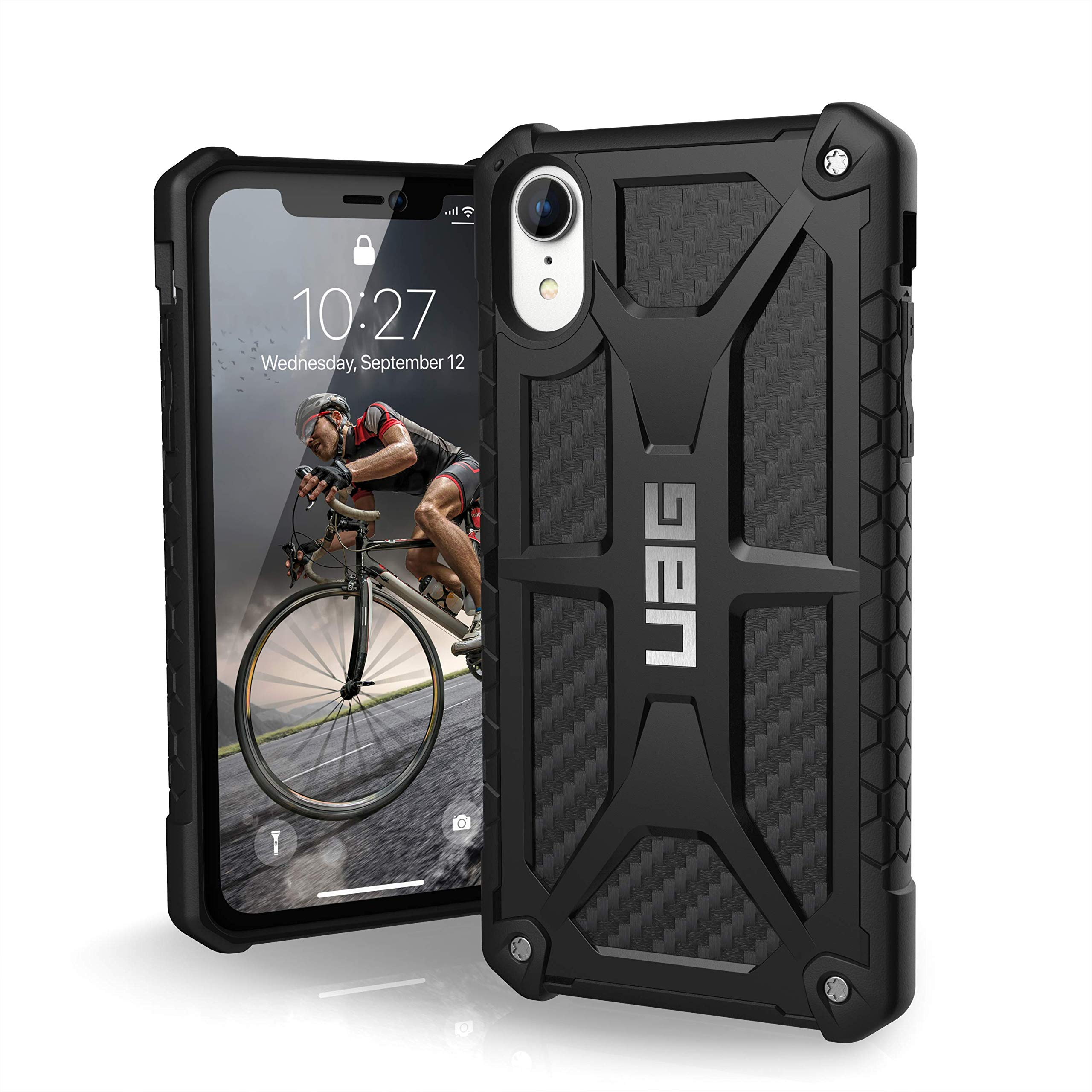 URBAN ARMOR GEAR UAG iPhone XR [6.1-inch Screen] Monarch Feather-Light Rugged [Carbon Fiber] Military Drop Tested iPhone Case