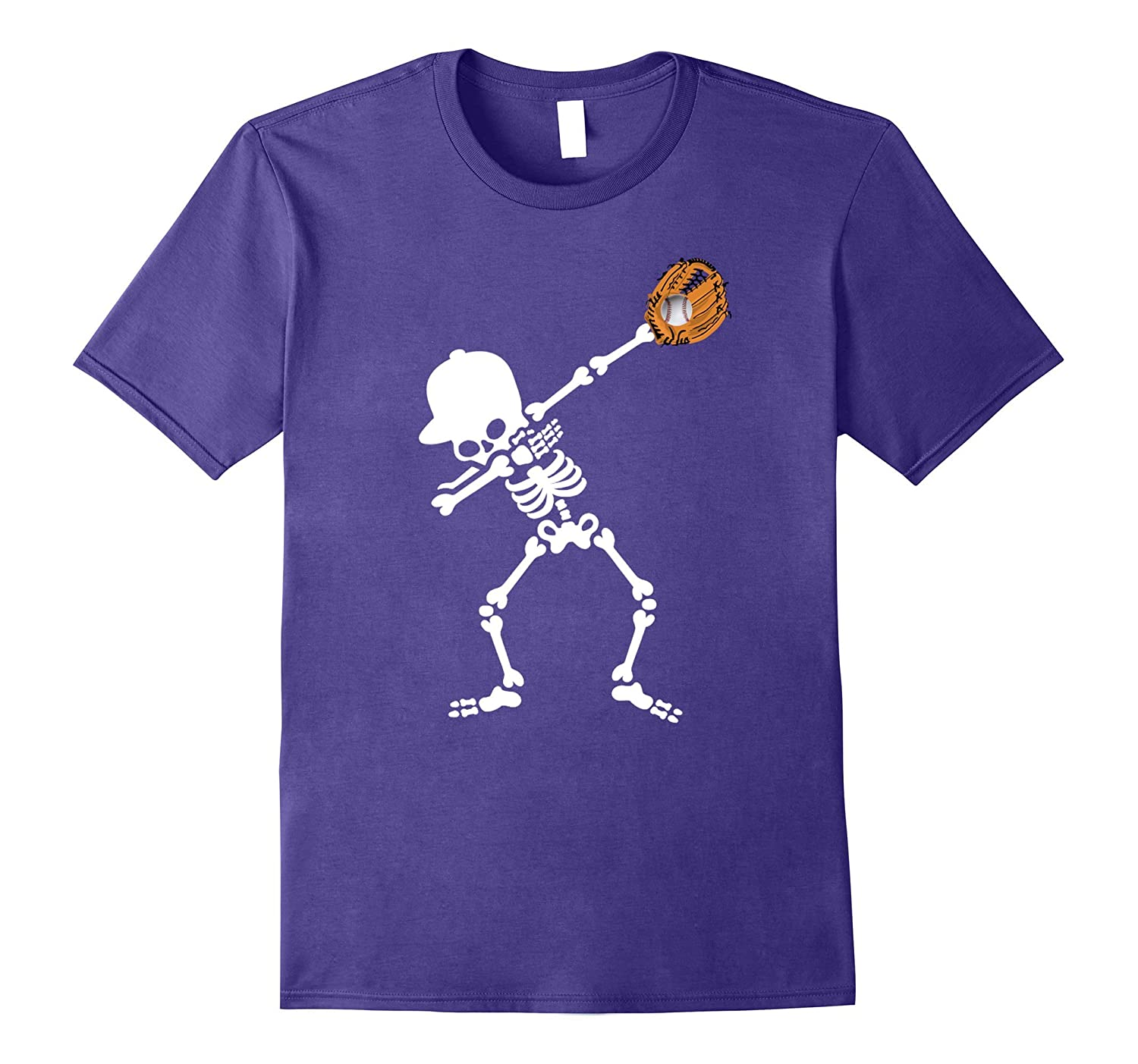 Halloween Dabbing Skeleton Baseball T Shirt-T-Shirt