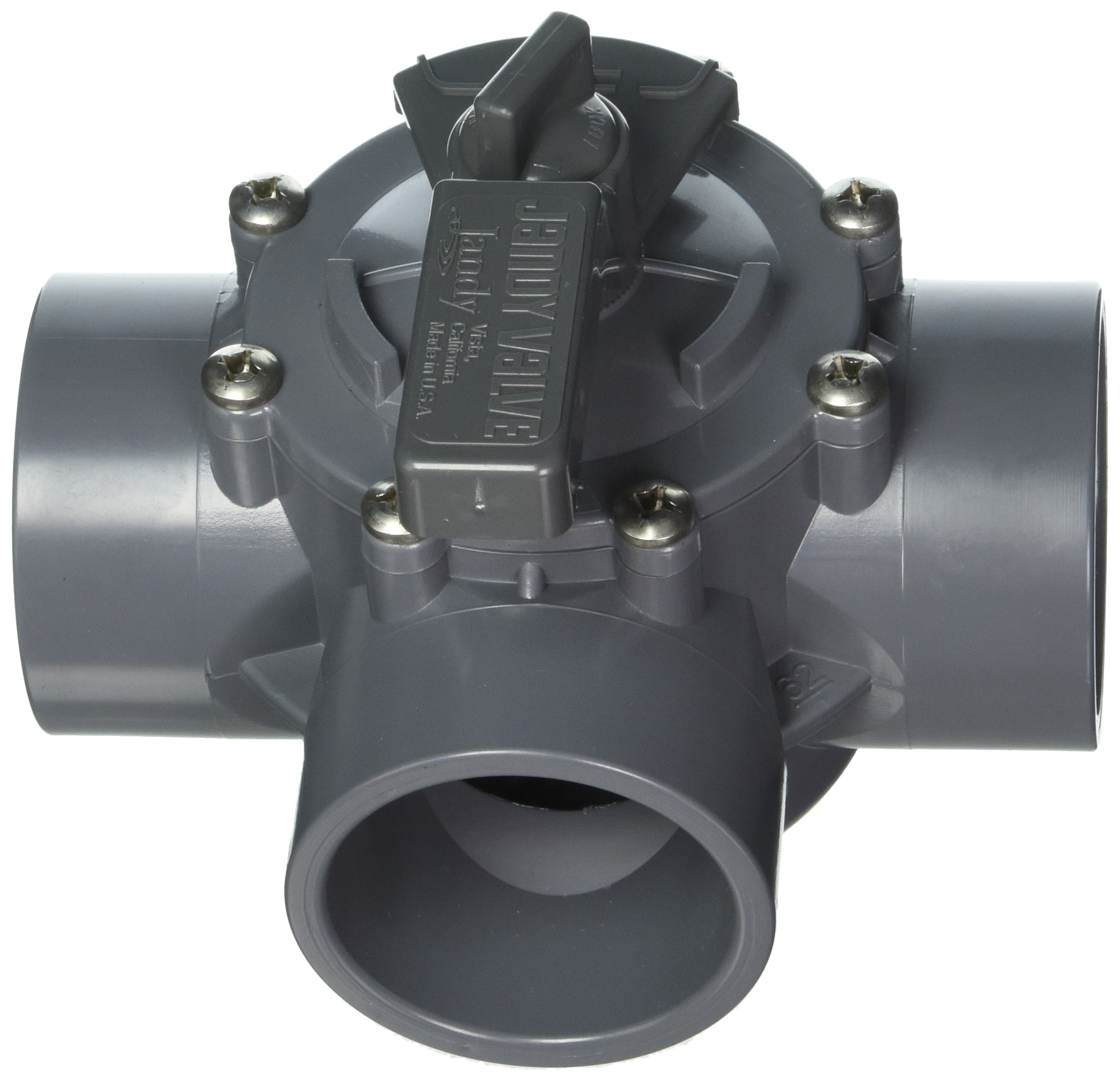 Jandy 2875 3-Port 2 to 2-1/2-Inch Positive Seal Pump Valve, Gray by Jandy