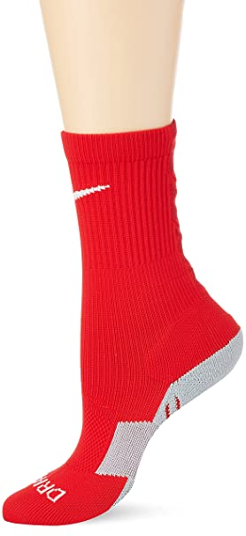 Nike Crew Stadium II - Calcetines de fútbol multicolor University Red/Team Red/White Talla:small: Amazon.es: Deportes y aire libre