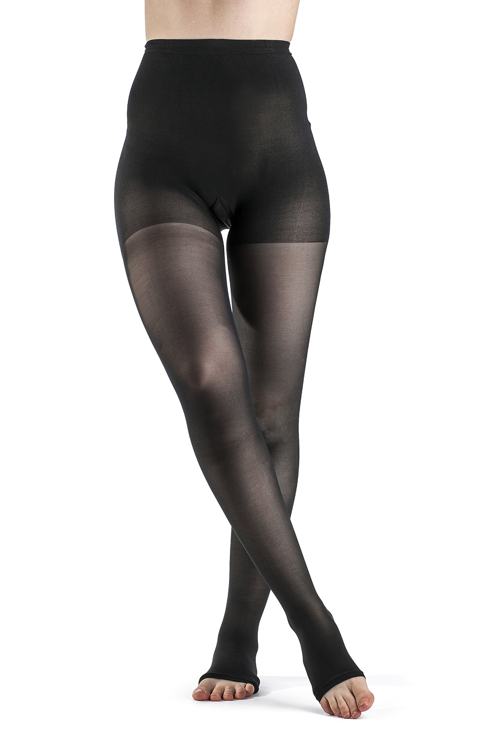 SIGVARIS Women's EVERSHEER 780 Open Toe Compression Pantyhose 20-30mmHg