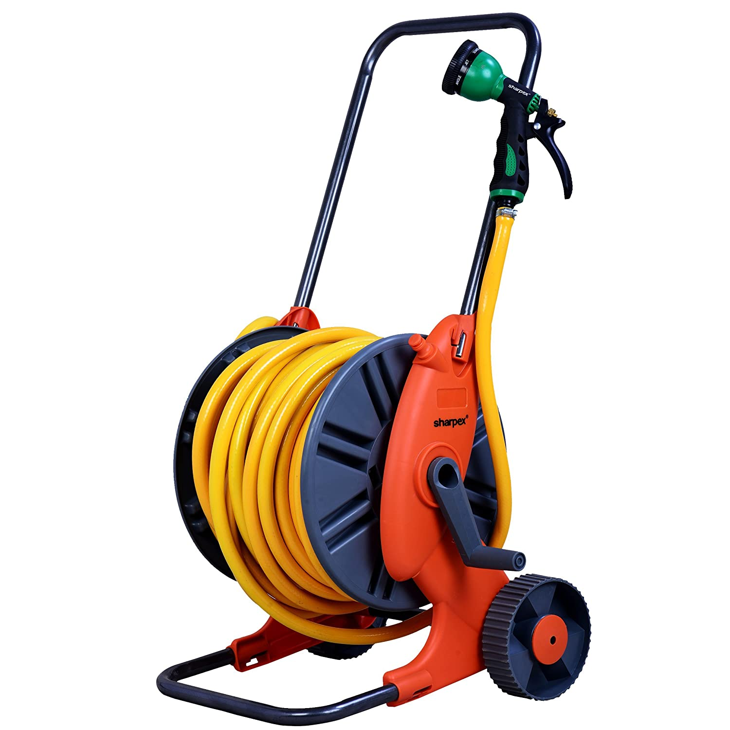 Sharpex Magic Hose Trolley with 30m Hose and 8 Pattern Hose