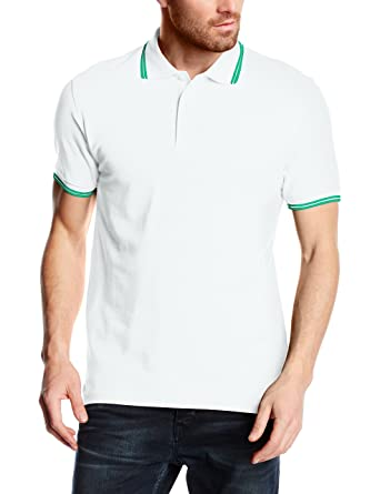 Fruit of the Loom Mens Tipped Polo Shirt: Amazon.es: Ropa y accesorios