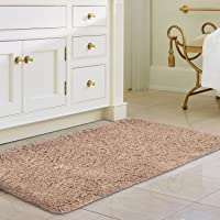 Norcho 31-in x 19-in Soft Shaggy Bath Mat Rubber Bath Rug