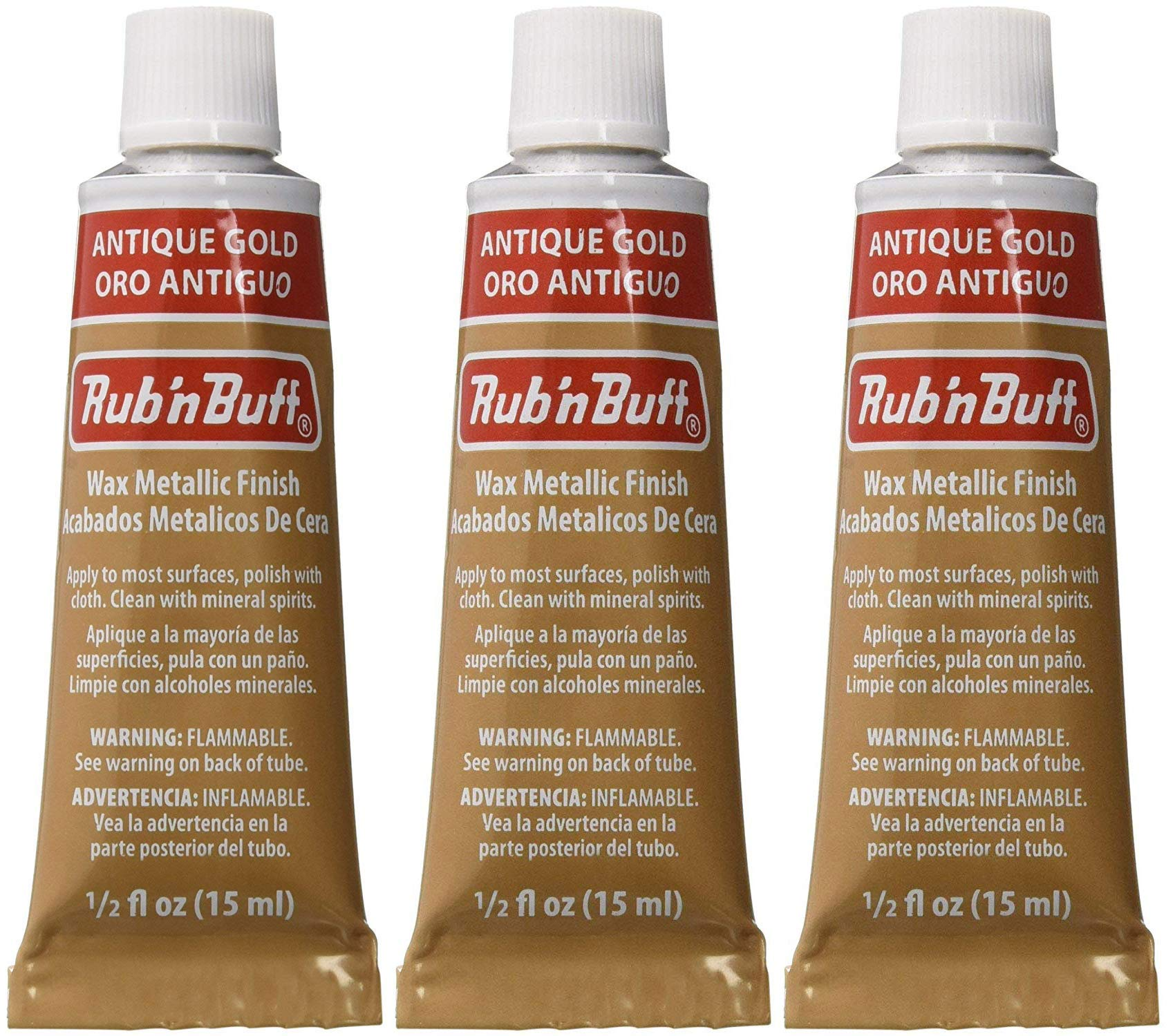 Rub 'n Buff The Original Wax Metallic Finish antique gold [PACK OF 3 ] by Rub N Buff