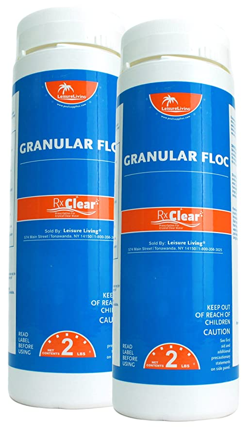 Amazon.com : Rx Clear Granular Floc | 2 Pound Bottle | Swimming Pool ...