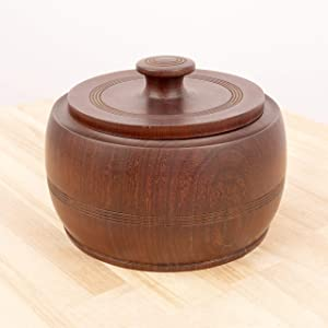 Antique Wooden Round Shape Box with lid || Vintage Wood