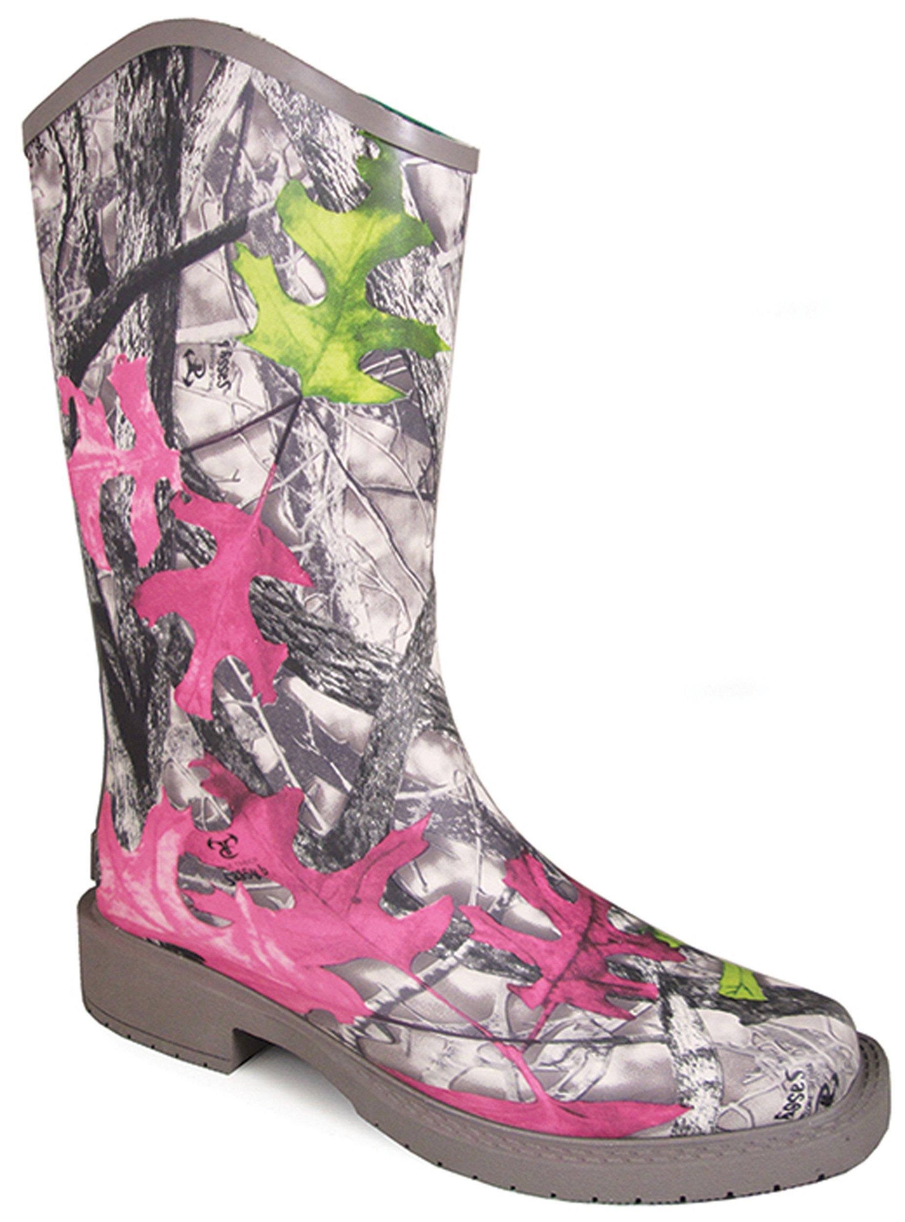 Smoky Mountain Women's Oconee Rain Boot Square Toe Camouflage 8 M
