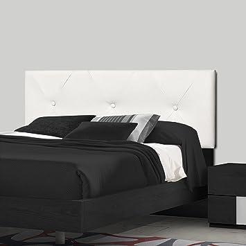 SERMAHOME- Cabecero Toledo tapizado Polipiel Color Blanco. Medidas: 110 x 55 x 7 cm (Camas 80, 90 y 105 cm).: Amazon.es: Hogar