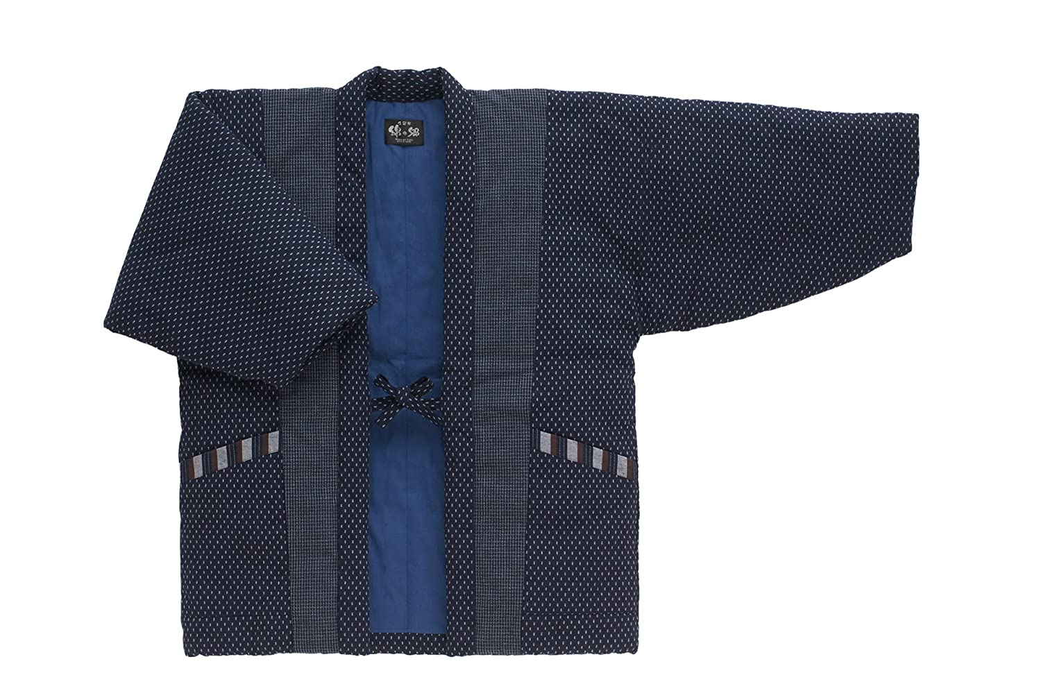 WATANOSATO Hail pattern Hanten (Cotton jacket made in Japan Kimono-style) Men's