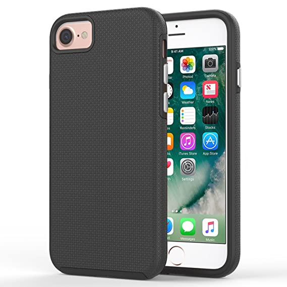 low priced 6d5af 93160 For iPhone 8 Case / iPhone 7 Case, MoKo Shockproof, Ultra Slim Protective  Case Dual Layer Non-slip Grip Protection Cover for Apple iPhone 8 / 7 - ...