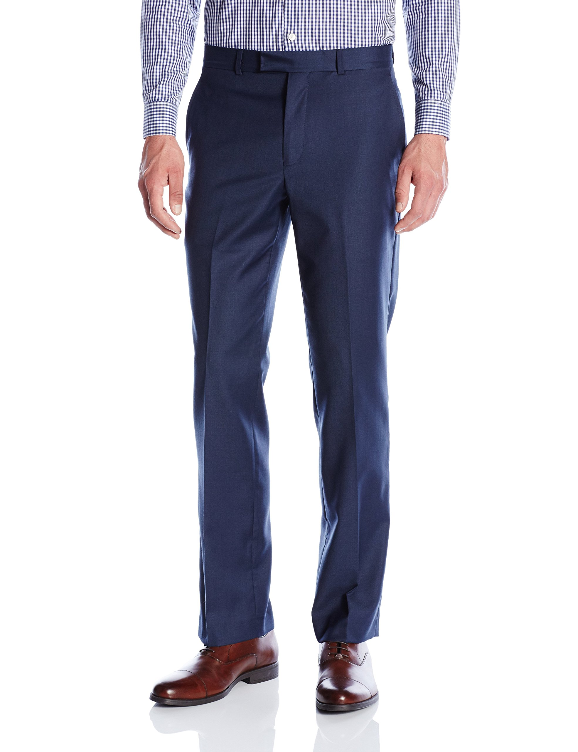 Kenneth Cole New York Men's Performance Wool Suit Separate (Blazer and Pant), Blue Pant, 30W x 30L