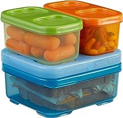 Rubbermaid Lunchblox Kid's Tall Lunch Box Kit, blue/orange/green