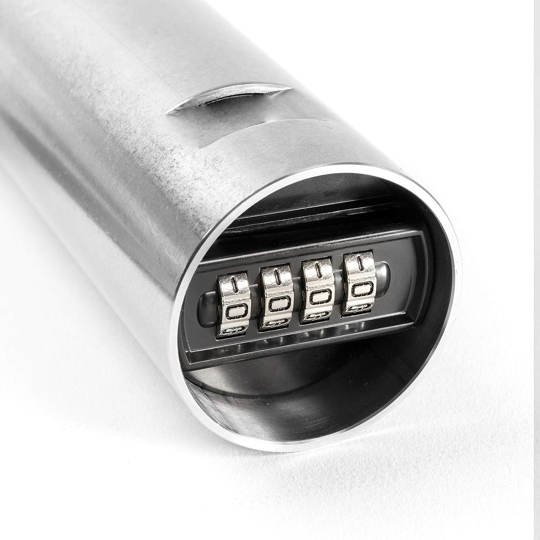 Kruse Rohrtresor komplett mit Putzblende Silber hochwertiger Edelstahl 51mm Durchmesser