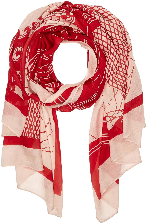 Liebeskind Berlin Damen Umschlagtuch H1169503, Rot (Cherry Blossom Red Wave 35D2), One size (Herstellergröße: N)
