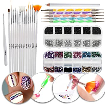 Amazon Nail Art Manicure Designs Set With Different Tools And