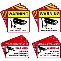 DEDC Pack de 20Pcs Cartel Zona Videovigilada Interior