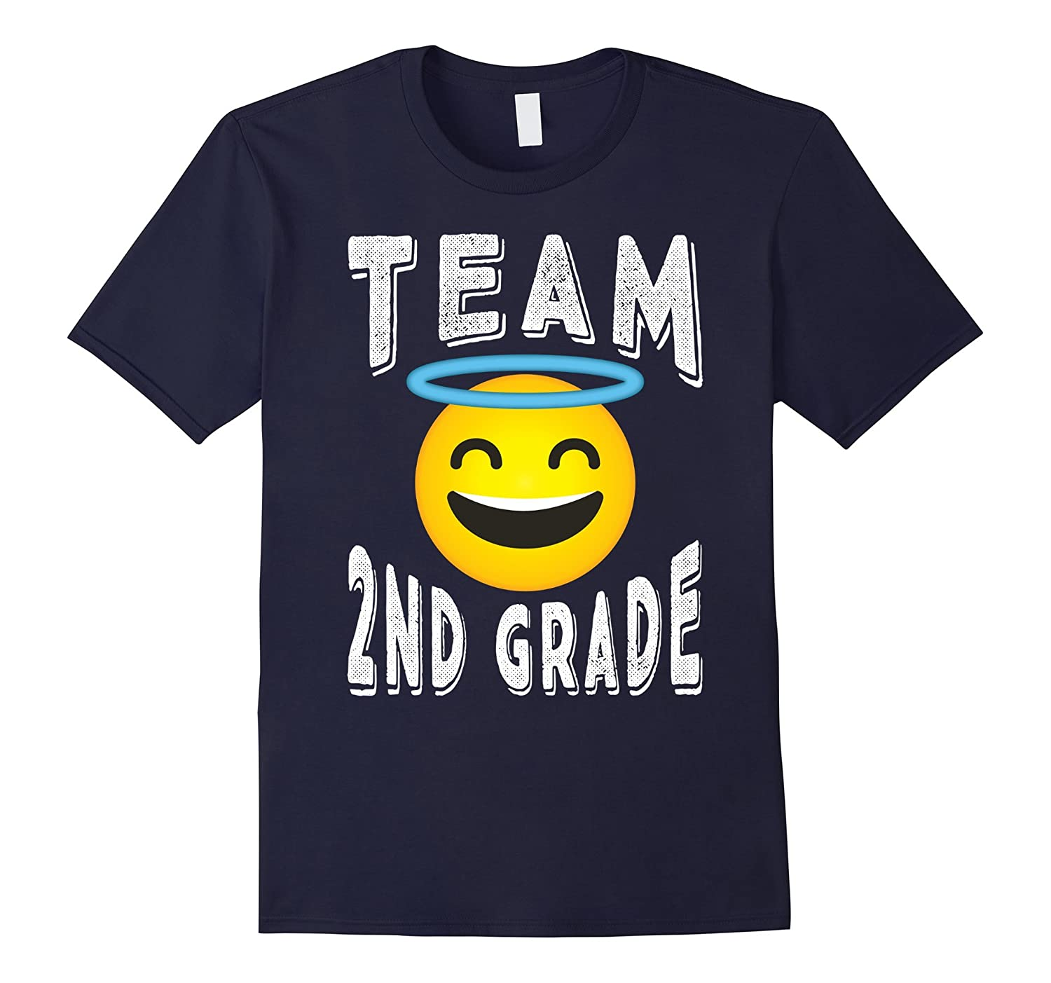 2nd Grade Teacher Shirt - Angel Emoji Team 2nd Grade T-shirt-Rose