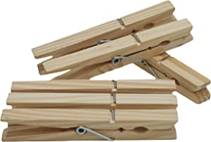 Prime Elements 120 Pack Large Wooden Clothespins, Weddings, Showers, Photo Displays, DIY Craft 4 x .5 x .5 inches