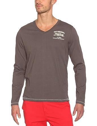 Deeluxe Herren T-Shirt, Grau, Plomb, 42 (Herstellergröße: L)