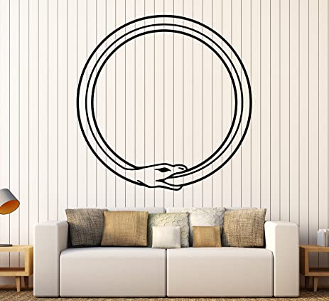 Amazon Vinyl Wall Decal Ouroboros Snake Symbol Infinity Circle