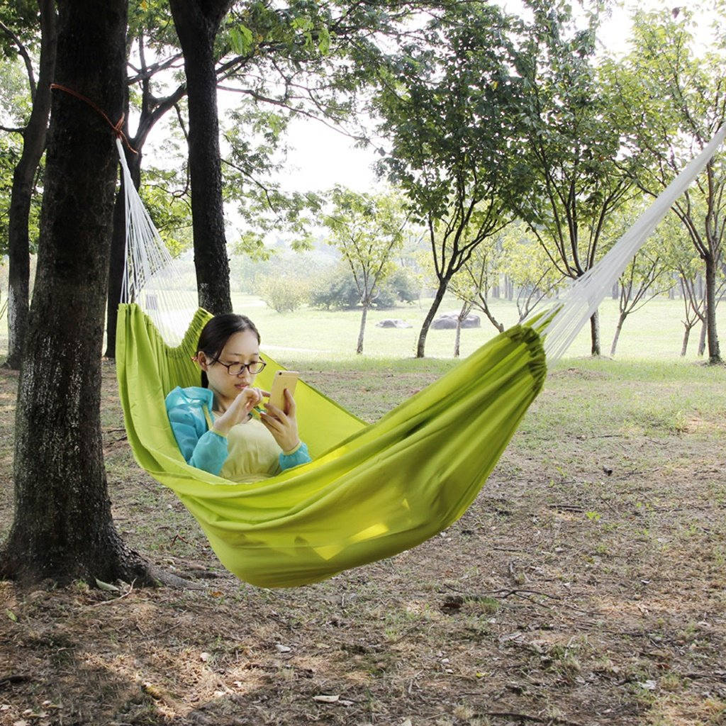 MMM& Hamaca Outdoor Parachute Parachute Outdoor Cloth Interior Dormitorio Dormitorio Swing Turismo Escalada Ocio Camping 200  140cm ( Color : Grass Verde ) 86035b