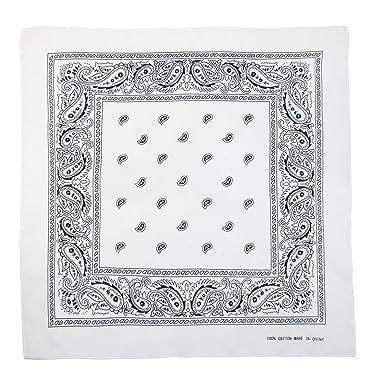 a60e584224b6 Boolavard 100% Coton, 1er 6 ou 12 Pack Bandanas avec Motif Paisley  Originale